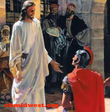Jesus healing Centurion's daughter